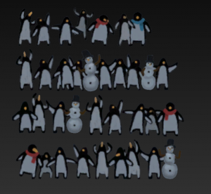 Pinguins Crowd